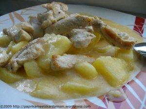 Burgonyafözelek - Kartoffelgemüse