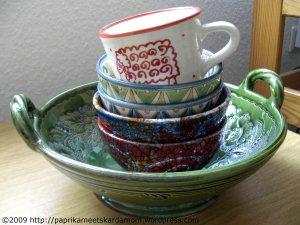 Gestapelte Keramik